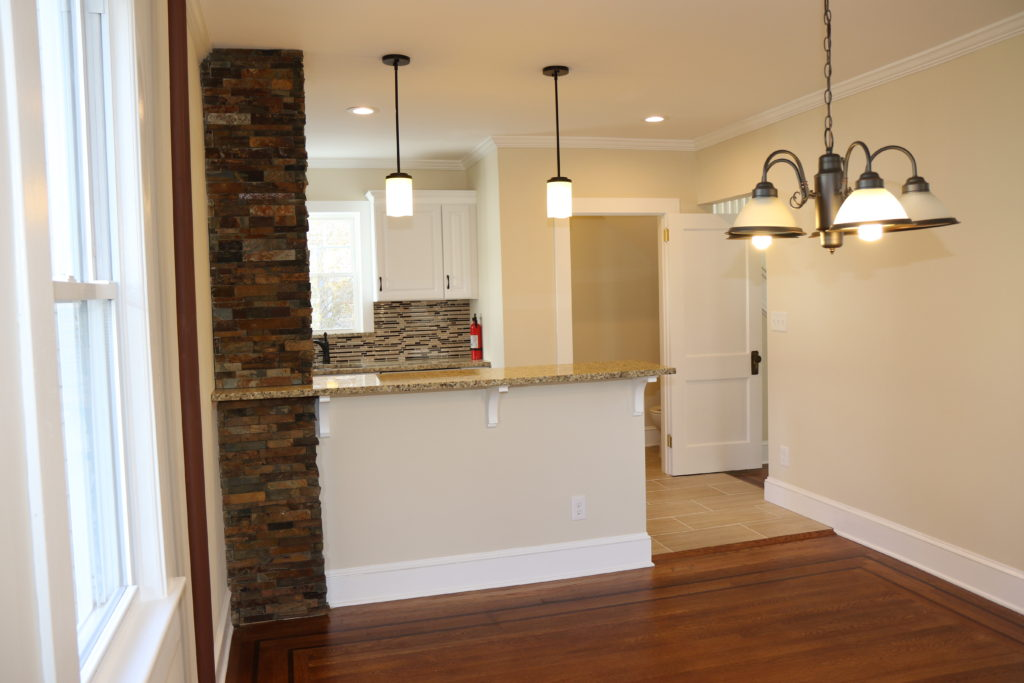 After - Renovated Dining Room with Breakfast Bar