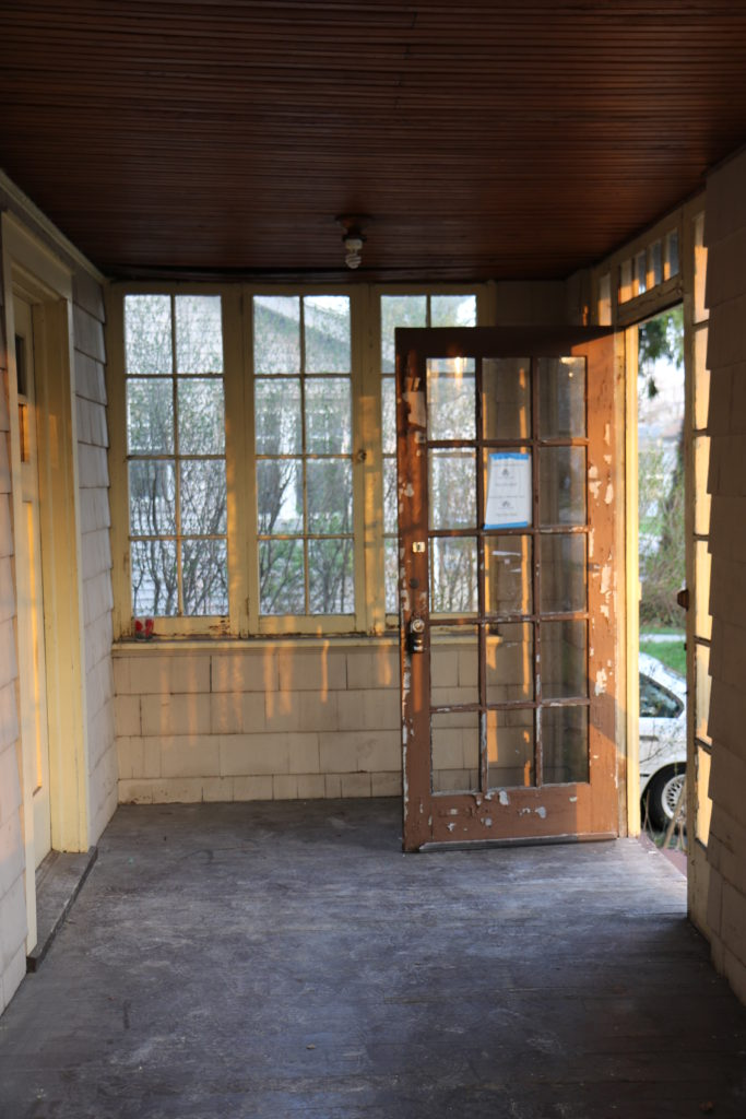 Before - Enclosed Front Porch