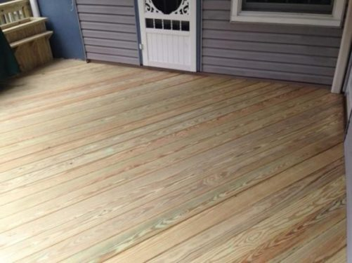 Renovated Rear Deck