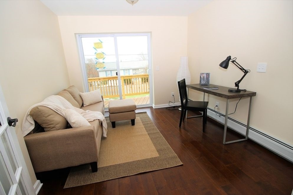 Renovated Den-Family Room with Sliders to Deck