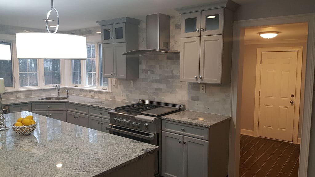 Renovated Kitchen with New Cabinets and Countertops