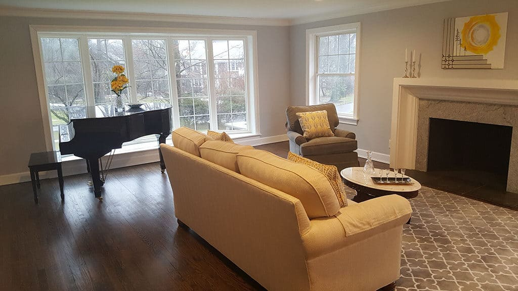 Renovated Living Room with Fireplace