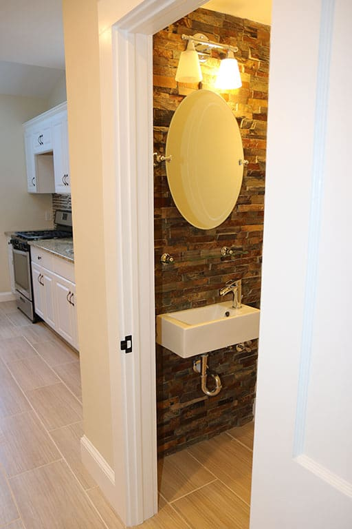 Renovated Powder Room and Kitchen