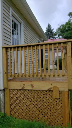 Side of New Deck