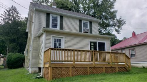 Renovated Exterior with New Deck