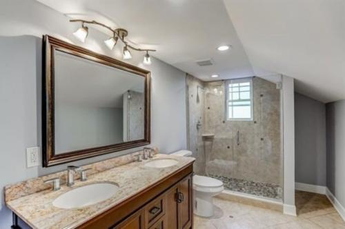 Renovated Full Bath with Walk-in Shower