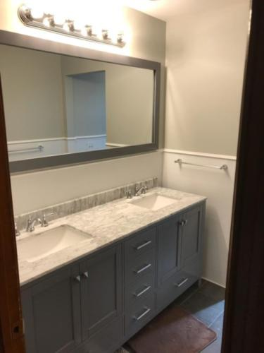 Renovated Full Bath with New Double Sink Vanity