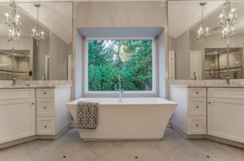 Renovated Master Bath with Soaking Tub and Double Vanities