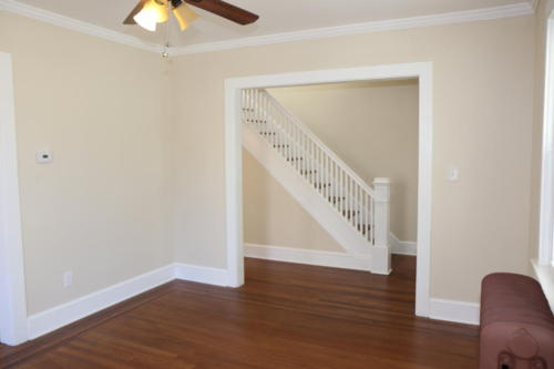 AFTER - Living Room into Foyer and Staircase