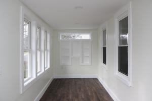 Front Porch with Built-in Shelving