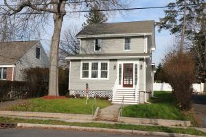 Renovated Home - Front with New Vinyl Siding and New Front Stairs